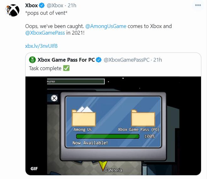 Among Us llegará a las consolas de Xbox en 2021