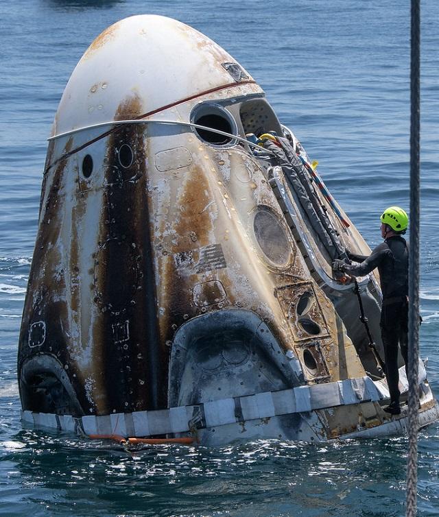 Llegada a la Tierra de la misión Space X Demo 2