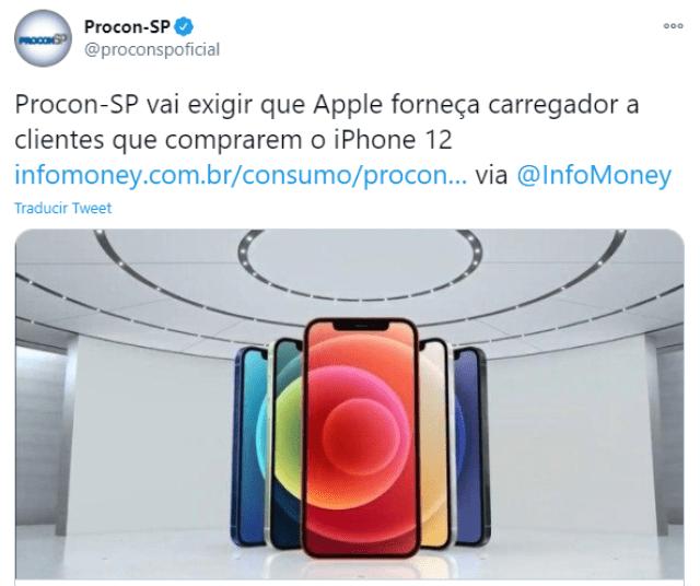 Apple deberá vender iPhone con cargador en Brasil