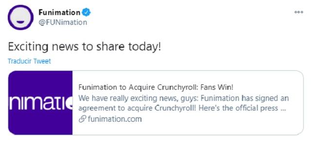 Funimation compra Crunchyroll a AT&T
