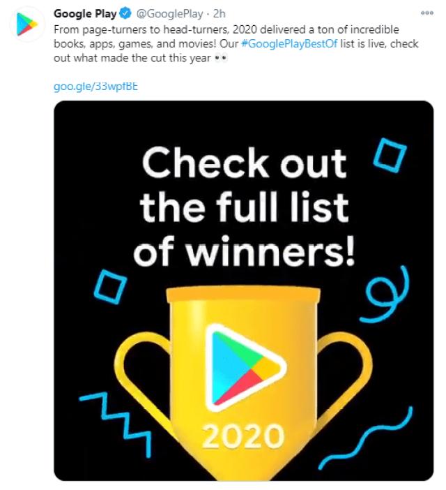 Google Play anuncia sus mejores apps del 2020