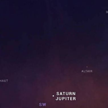 La gran conjunción de Júpiter y Saturno