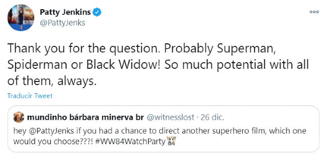 Patty Jenkins no descarta colaborar con Marvel