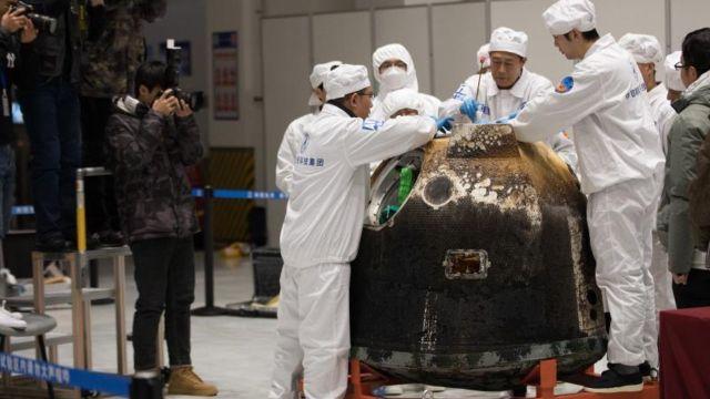 Regresan a China semillas de arroz que germinaron en la Luna a bordo de Chang'e 5