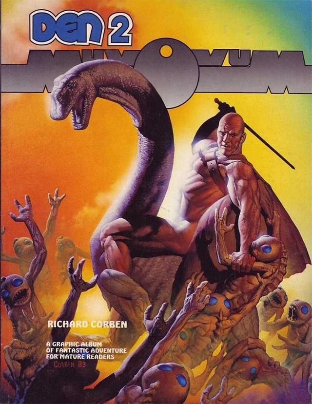 Portada de DEN comics de Richard Corben