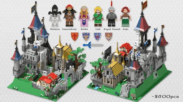 Castillo de Hyrule en Lego