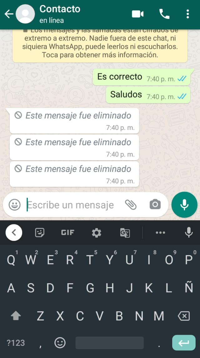 WhatsApp no permite recuperar mensajes eliminados