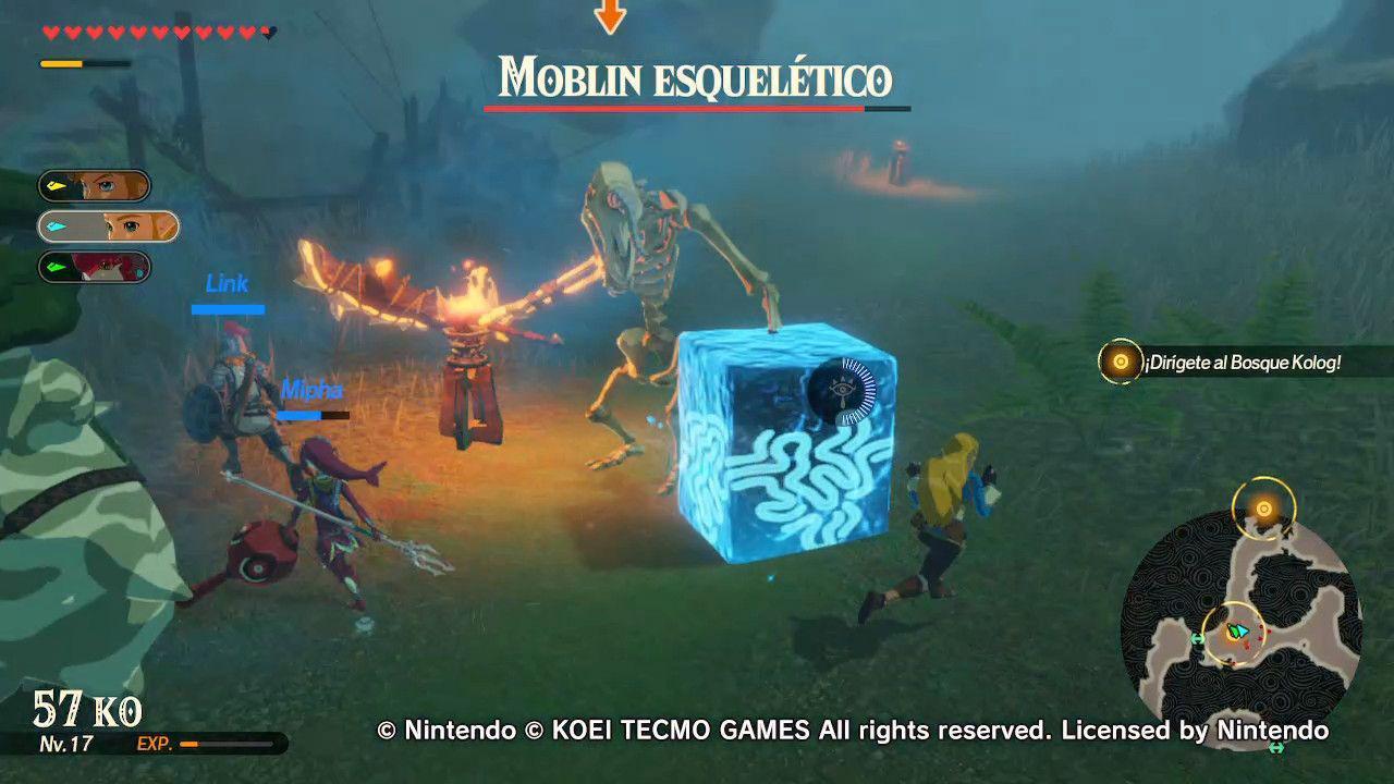 Hyrule Warriors Age of Calamity Moblin Esquelético