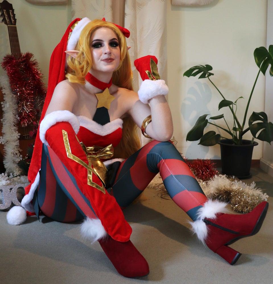 jinx lol cosplay navidad