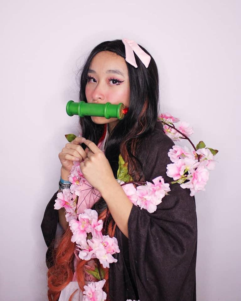 nezuko cosplay kimetsu no yaiba