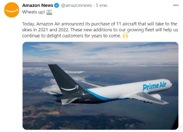 Amazon compra 11 aviones de aerolíneas en crisis