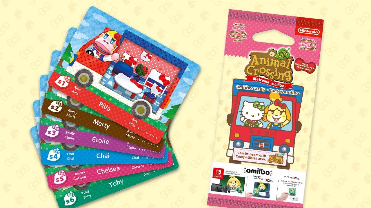 Animal Crossing y Sanrio presentan nuevas Amiibo Cards