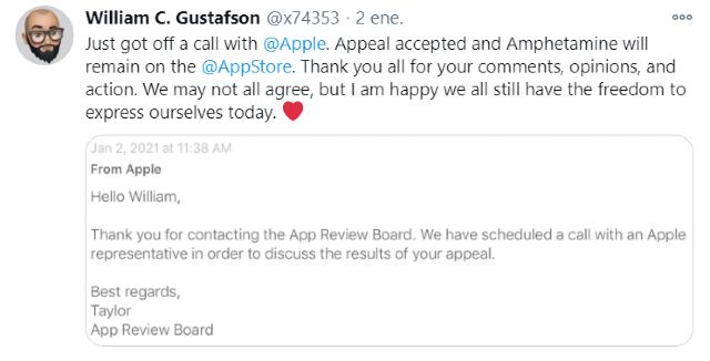 Apple intentó eliminar la app Amphetamine de su App Store