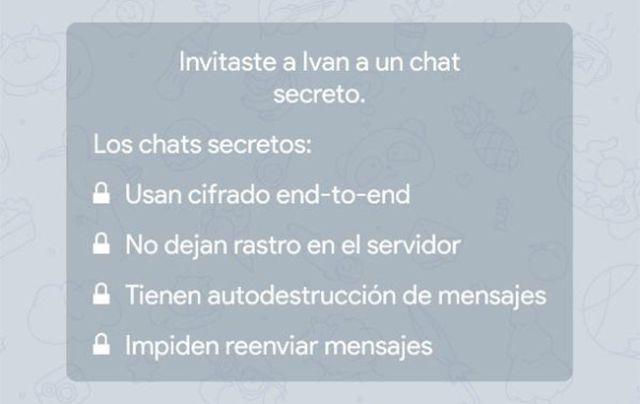 Chats secretos características