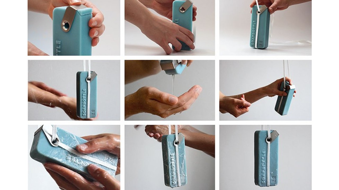 Crean botellas de shampoo hechas completamente de jabón como empaque eco-friendly (3)