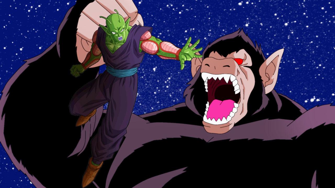 Dragon Ball Piccolo enfrenta a Gohan convertido en Ozaru