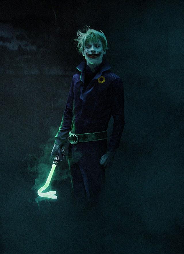 El Joker vestido como Luke Skywalker de BossLogic