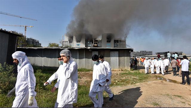 Incendio Facbrica de Vacunas Covid 19