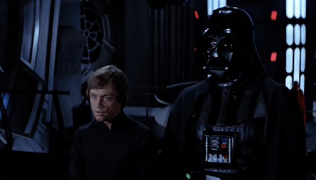 Luke y Darth Vader El REtorno del Jedi