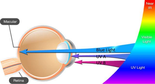 Luz azul afecta a los ojos