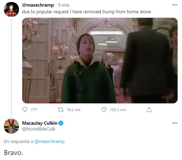 Macaulay Culkin apoya campaña para eliminar escena de Trump en Mi Pobre Angelito 2