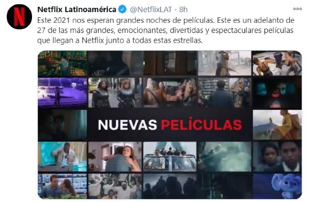 Netflix prepara estenos de películas cada semana