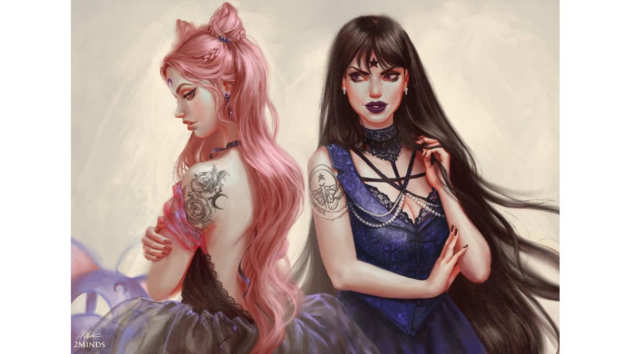 Sailor Moon: Artitsa une a Black Lady a Dama 9 en este fabuloso fan art