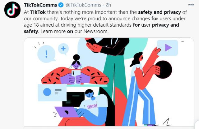 TikTok anuncia cambios en privacidad para adolescentes