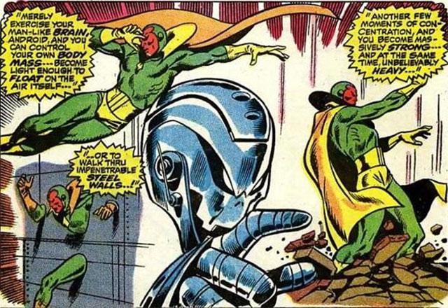 Vision primera aparición en los comics