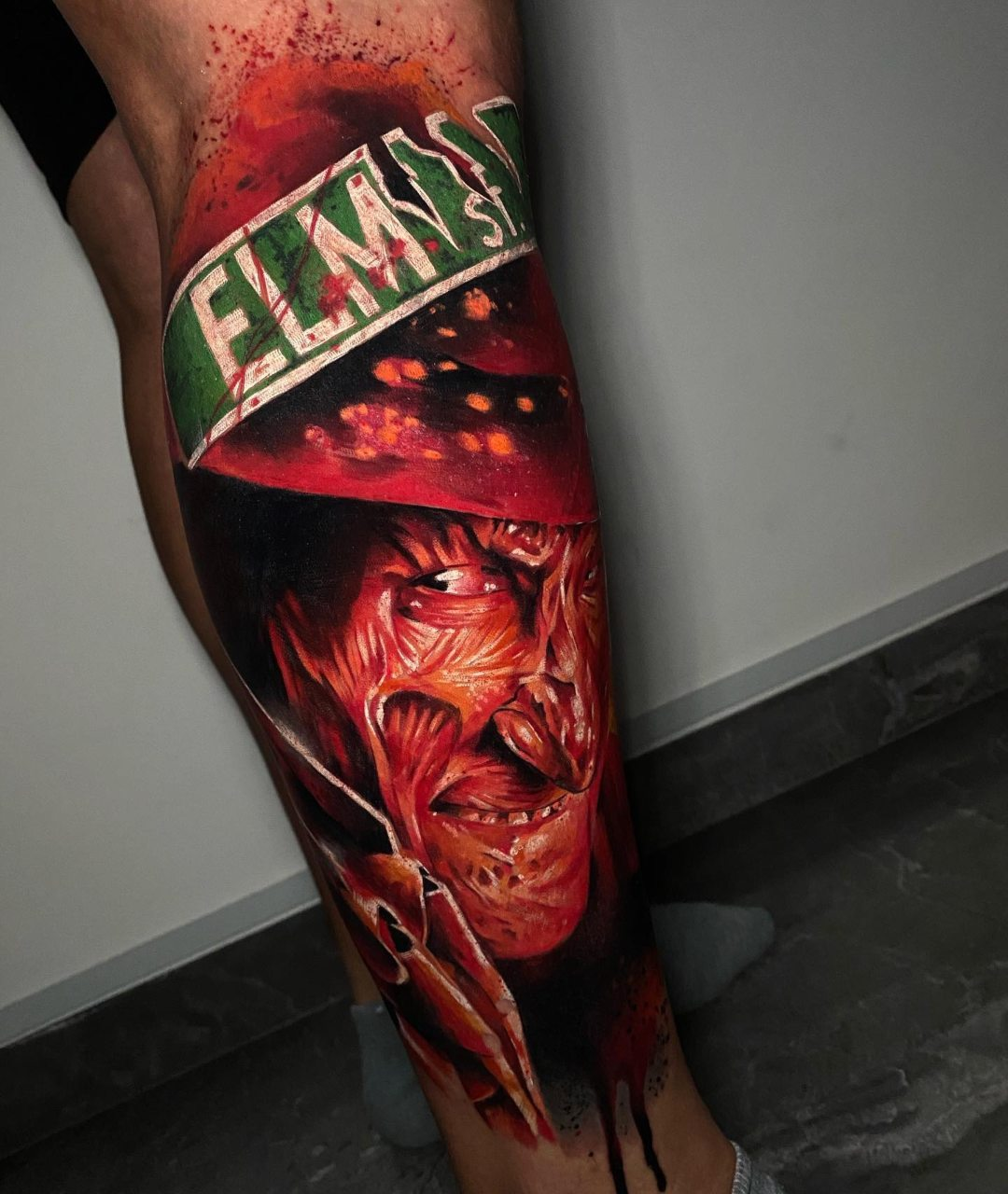 Freddy Krueger tatuaje