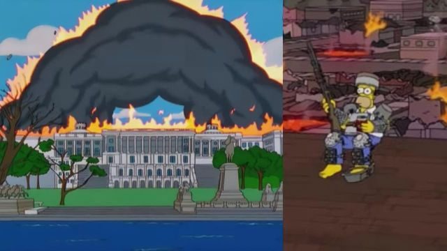 Los Simpson predijeron el ataque al capitolio