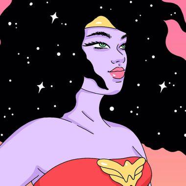 Wonder Woman dibujada por Robin Eisenberg