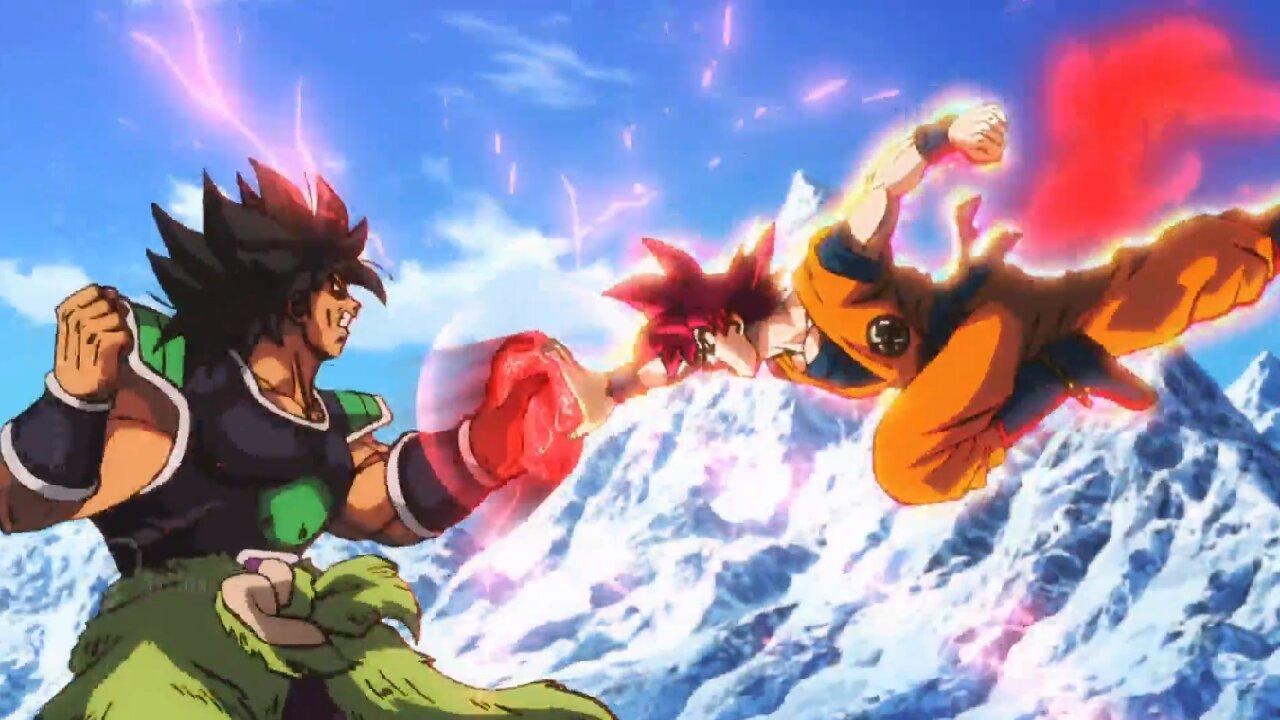 broly goku combate dragon ball super