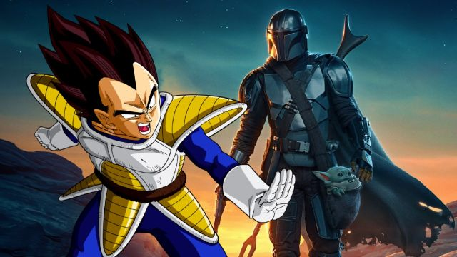 the mandalorian vegeta fanart twitter star wars dragon ball
