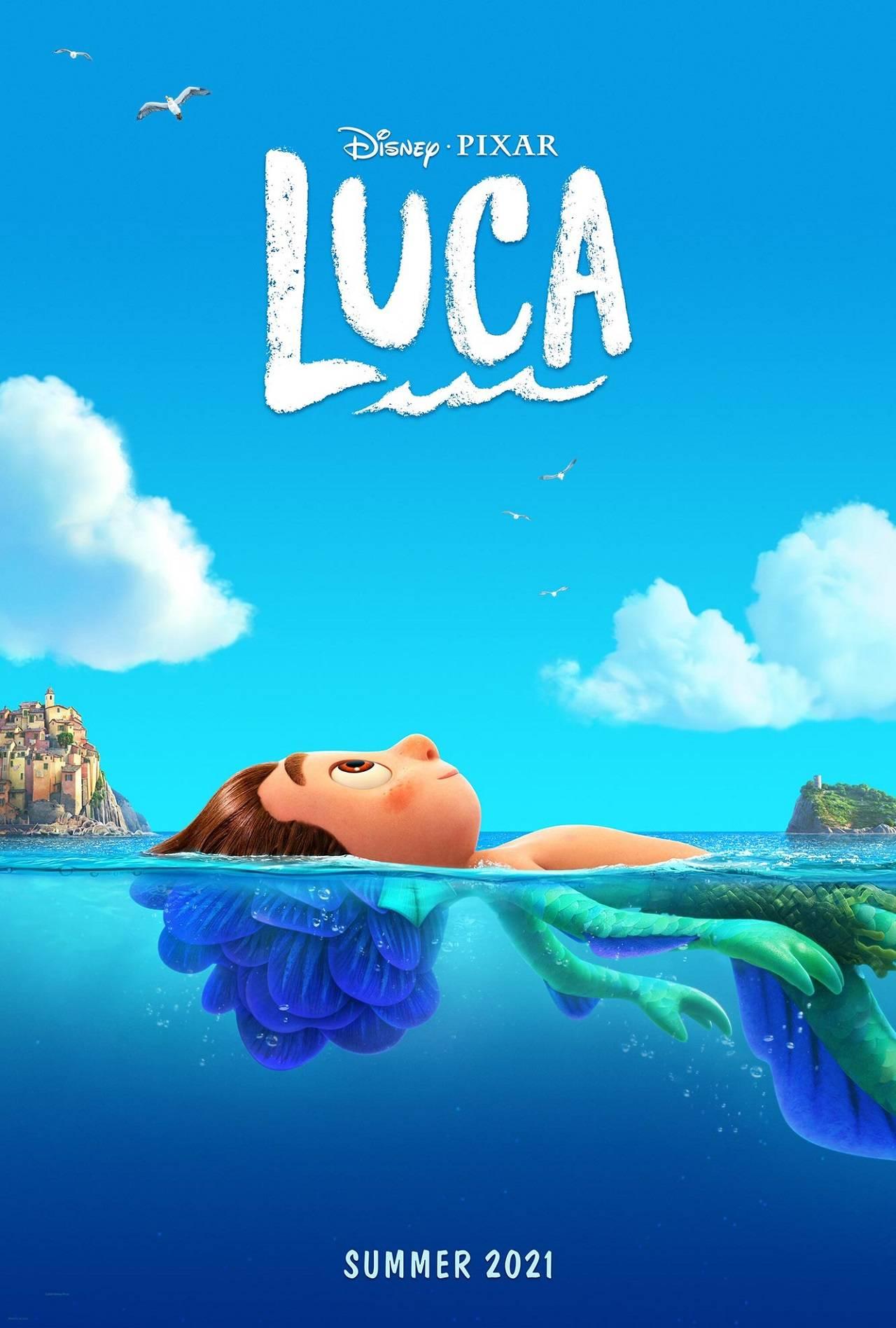 Póster de Luca, la nueva película de Pixar