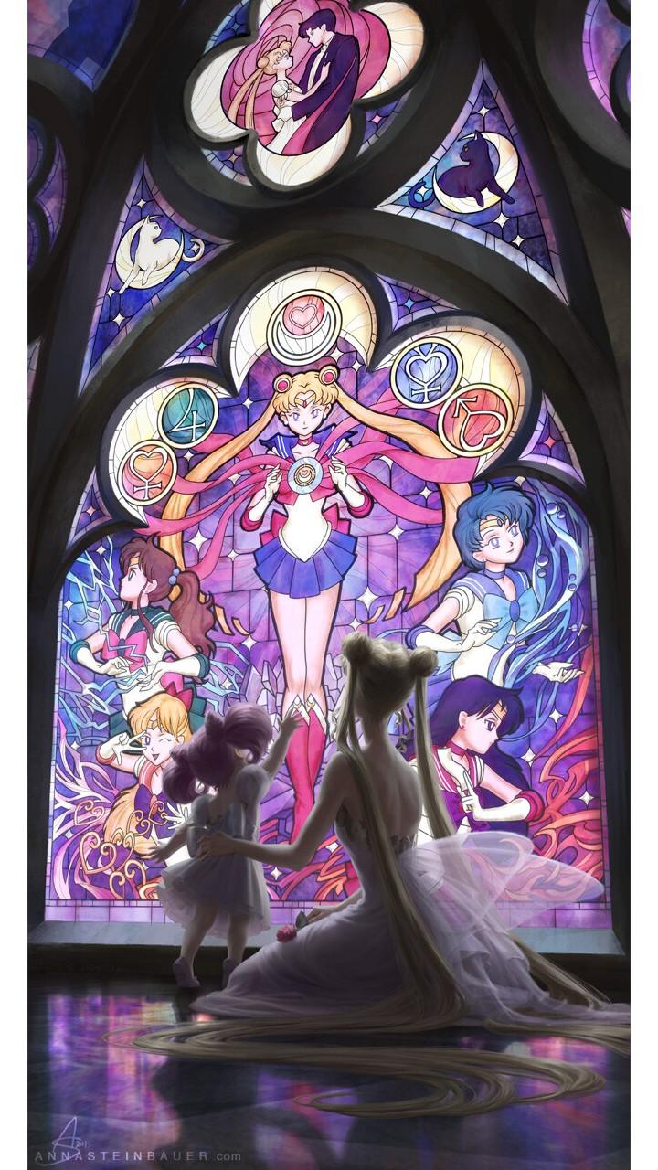Sailor Moon: La princesa Serenity y Chibiusa comparten un momento mágico a través de este fan art