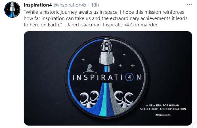 SpaceX pondrá en órbita la misión Inspiration4 a finales de 2021