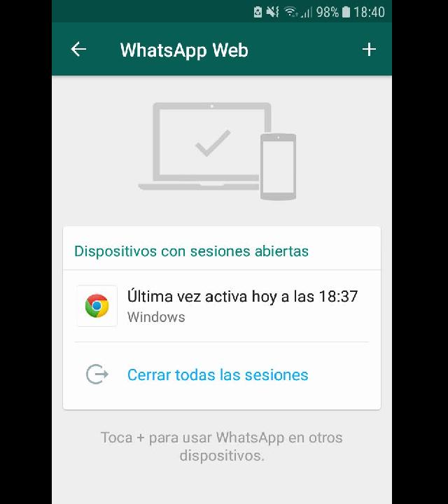 whatsapp celular cerrar sesión instructivo