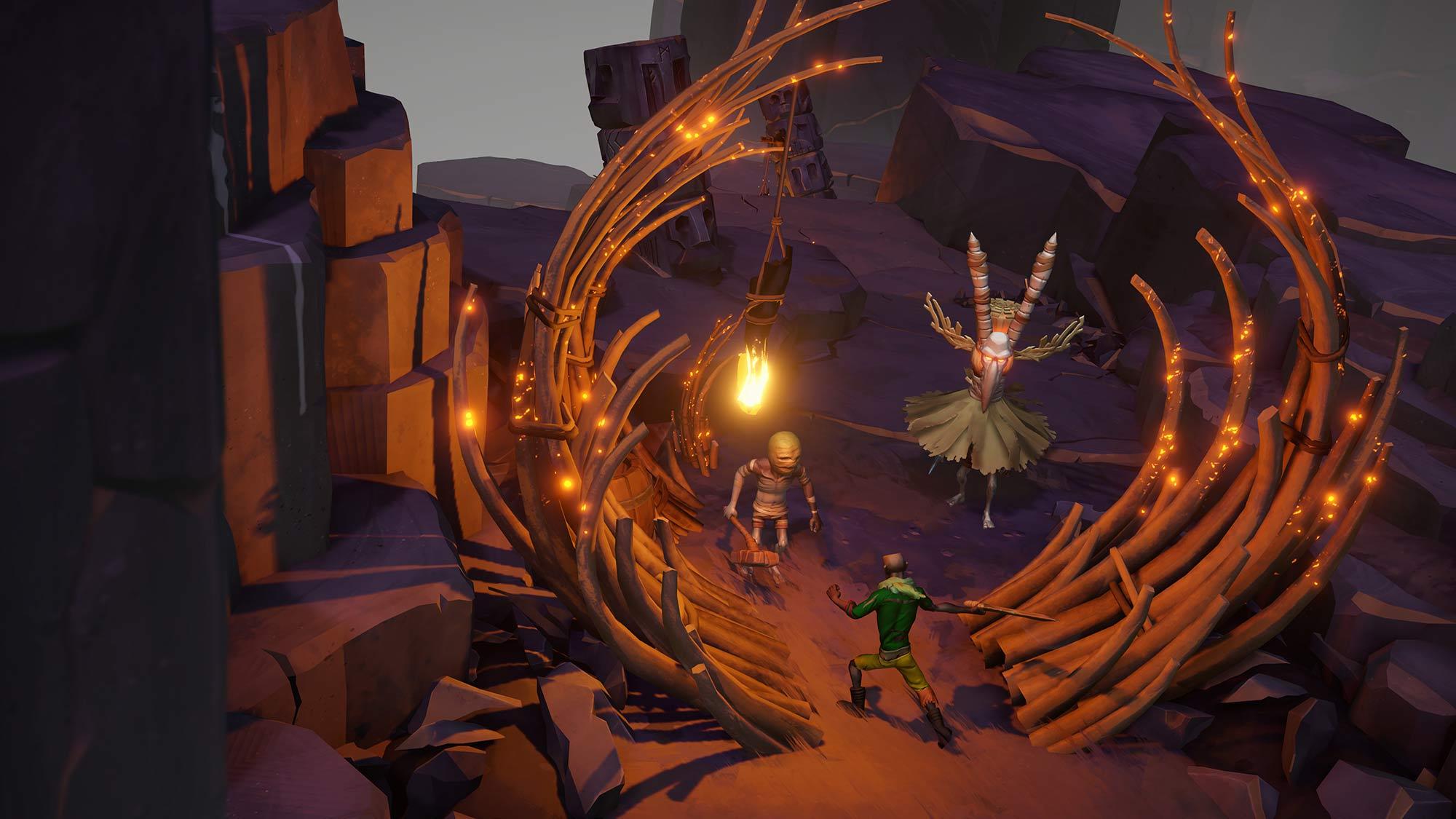 Gods Will Fall es un juego que busca darle un giro al género de las mazmorra y ofrecernos una aventura más compleja de lo que imaginamos