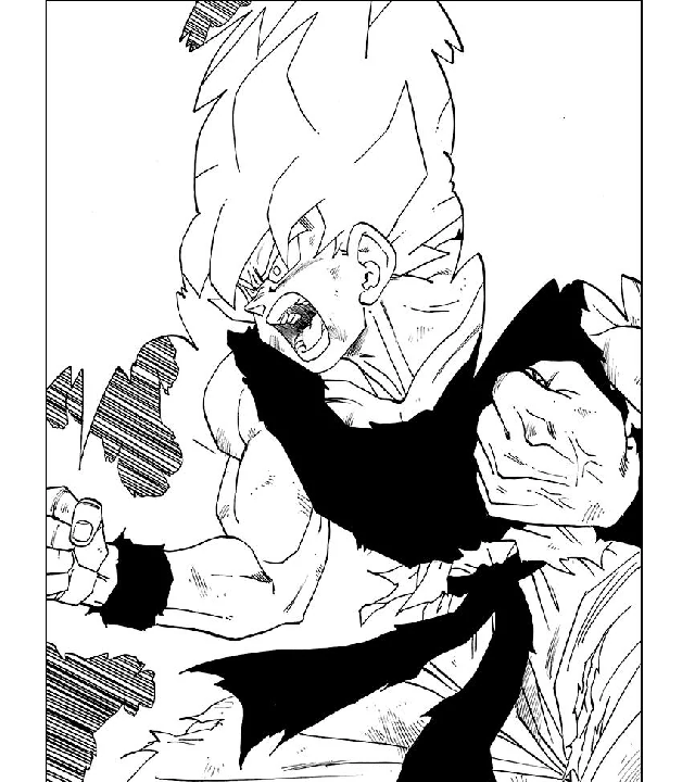 goku super saiyajin manga dragon ball