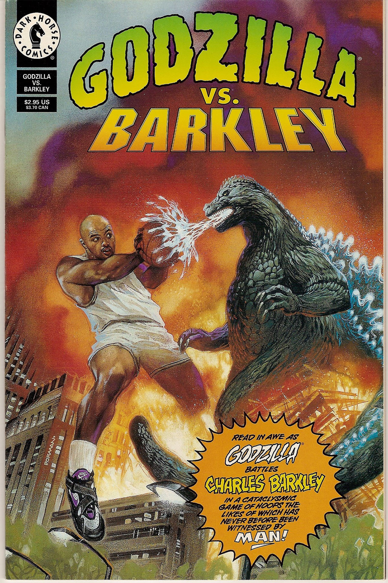 Godzilla Charles Barkley Comic Nike Comercial