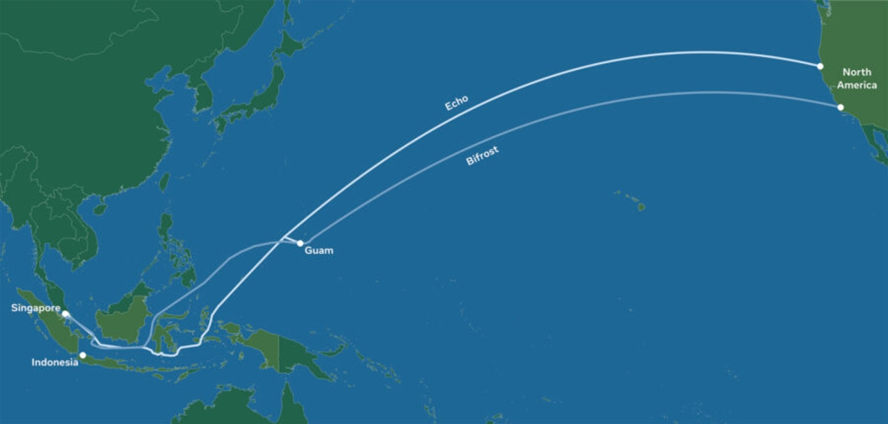 Google Facebook cables submarinos Asia