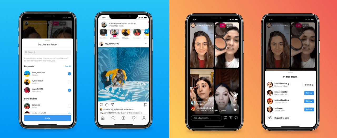 Instagram estrena Live Rooms para cuatro personas