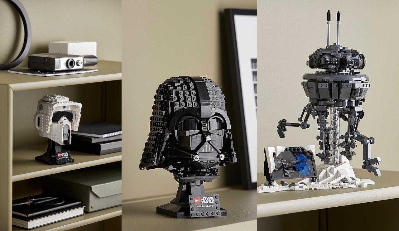 LEGO Star Wars sets cascos Darth Vader