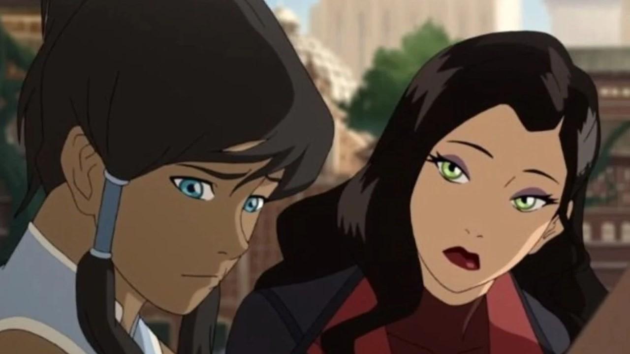 Asami y Korra