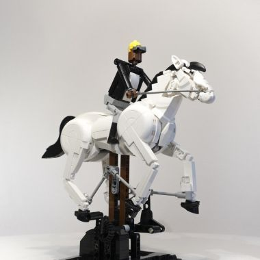 LEGO Caballo en movimiento de Eadweard Muybridge reecreado