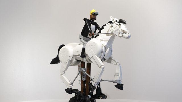 LEGO Caballo en movimiento de Eadweard Muybridge reecreado