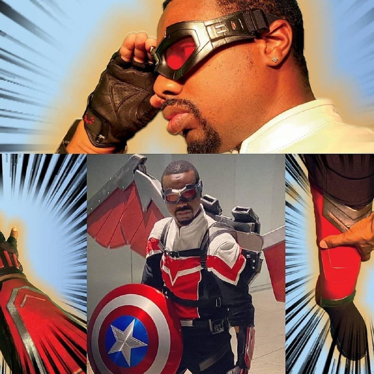Marvel Falcon cosplay DYO