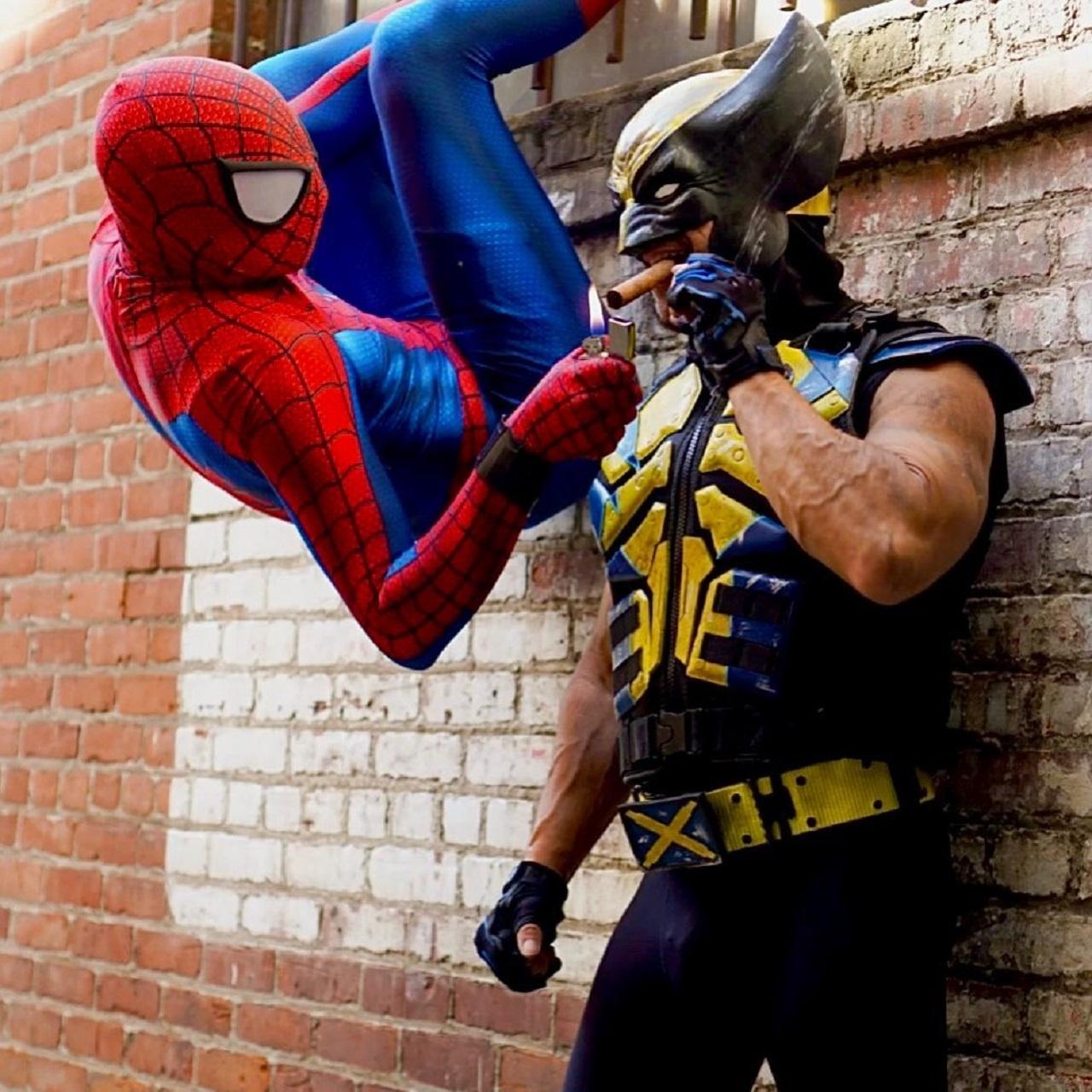 Cosplay Wolverine Spider man Marvel