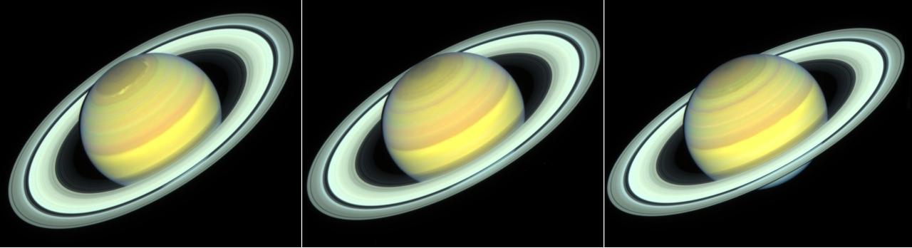 NASA Hubble imágenes estaciones Saturno